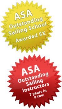 ASA Outstanding Sailing School Instructors 7 years in a row