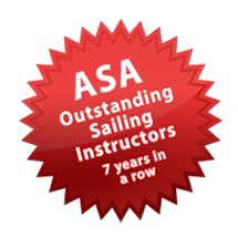 ASA Outstanding Sailing Instructor 7 Years in a Row