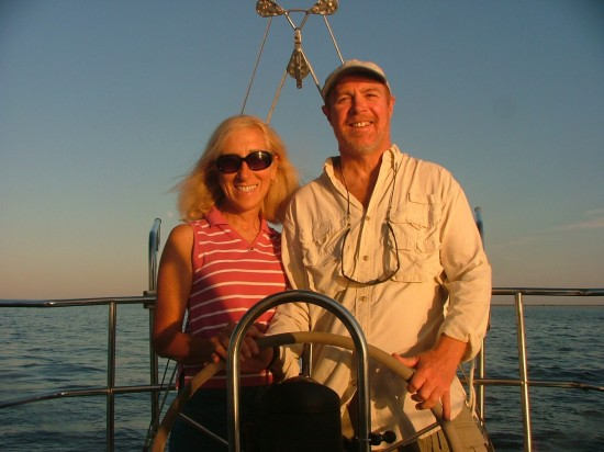 Captain Mike and Aubrey of Barnegat Bay Sailing School and Sailboat Charter